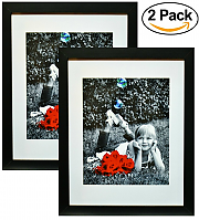 Amazon 15 97 2 Pack 11x14 Inch Picture Frame Black Made To Display An 11 By 14 Quot Picture